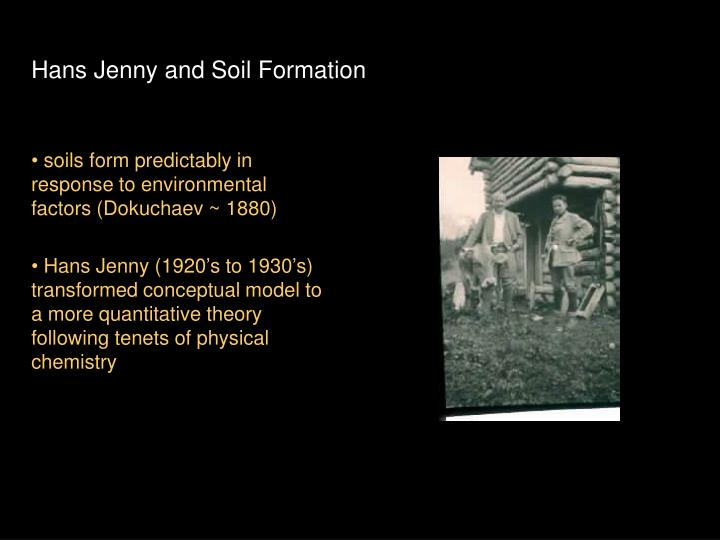 Hans Jenny and Soil Formation