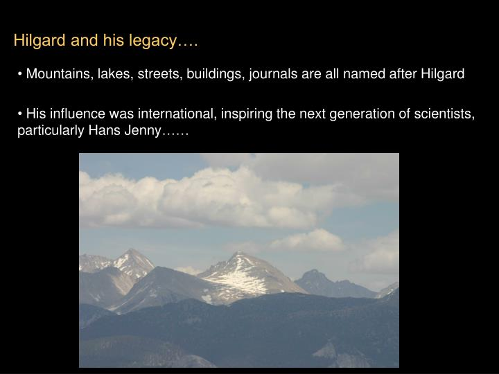 Hilgard and his legacy….