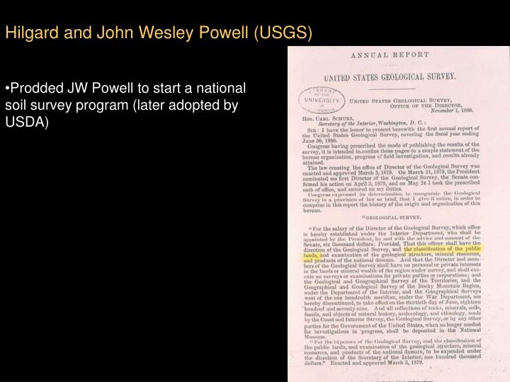 Hilgard and John Wesley Powell (USGS)