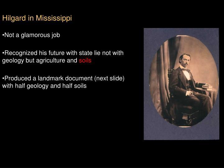 Hilgard in Mississippi