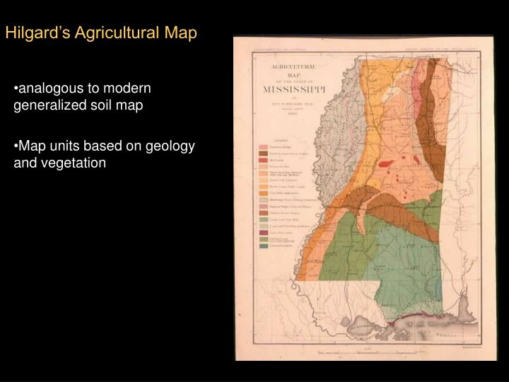 Hilgard's Agricultural Map