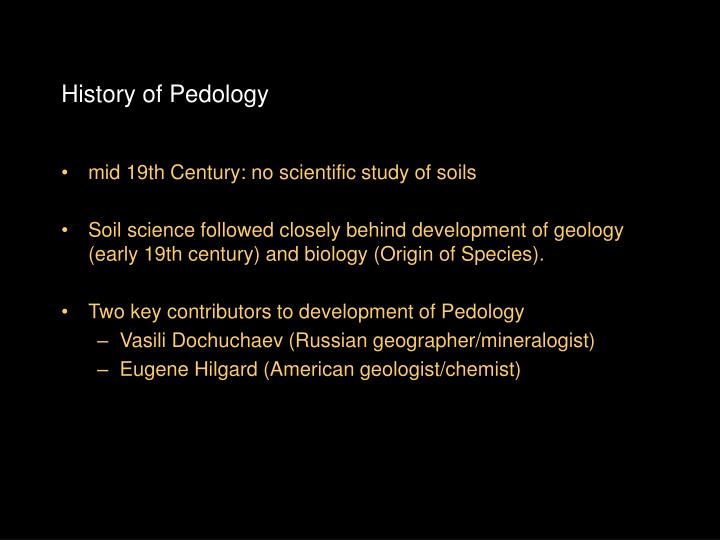 History of Pedology