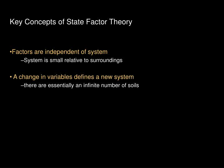 Key Concepts of State Factor Theory