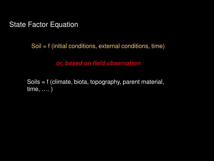 State Factor Equation