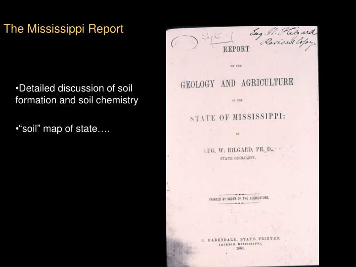 The Mississippi Report