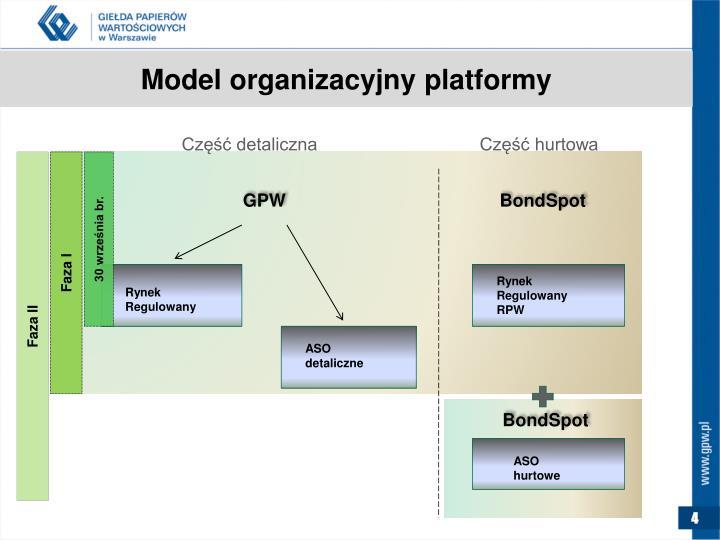 Model organizacyjny platformy