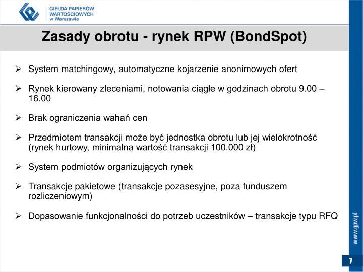 Zasady obrotu - rynek RPW (
