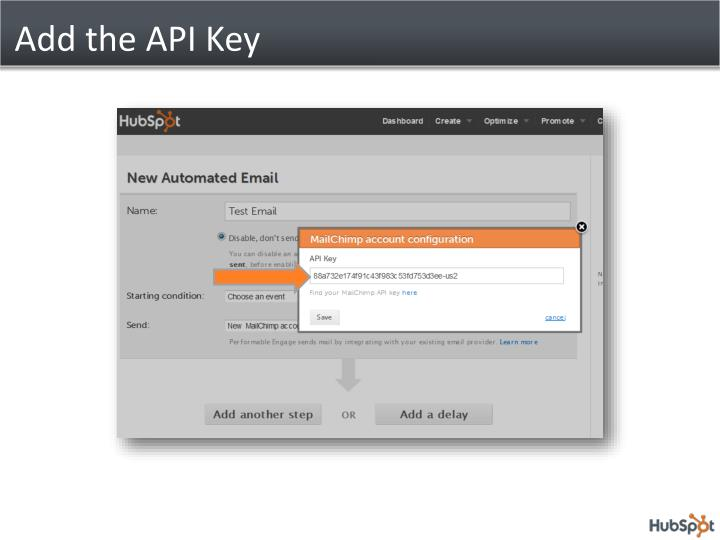 Add the API Key