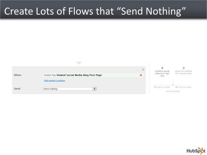 "Create Lots of Flows that ""Send Nothing"""