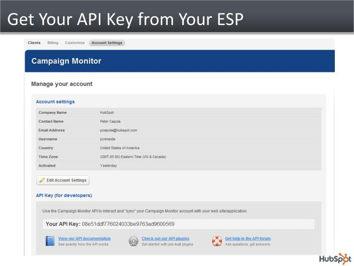 Get Your API Key from Your ESP