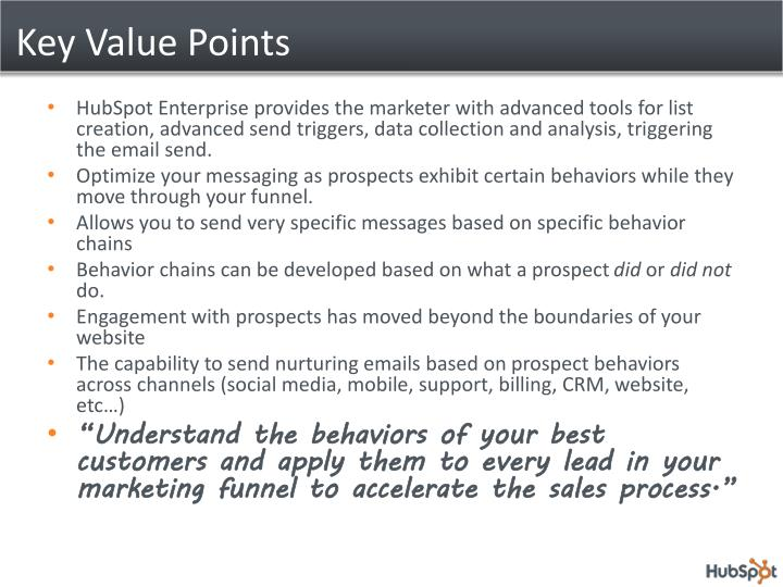 Key Value Points