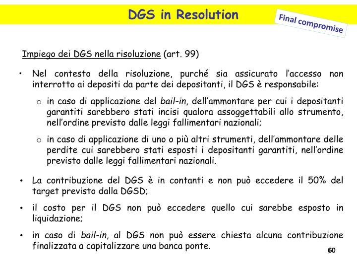 DGS in Resolution