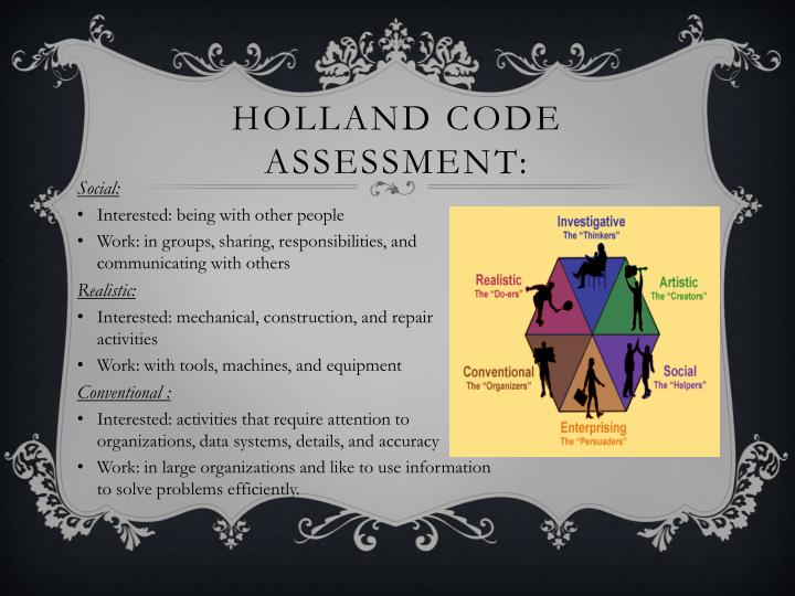 Holland code assessment:
