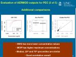 evaluation of aermod outputs for pec 5 of 5