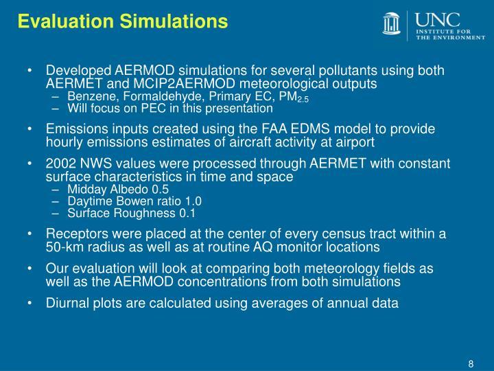 Evaluation Simulations
