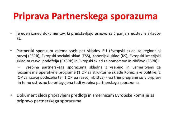 Priprava Partnerskega sporazuma