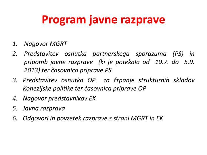Program javne razprave