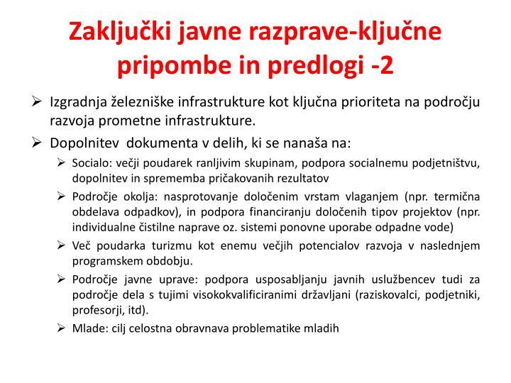 Zaključki javne razprave-ključne pripombe in predlogi -2