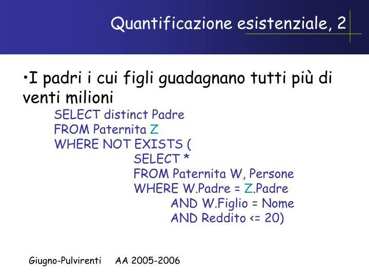 Quantificazione esistenziale, 2