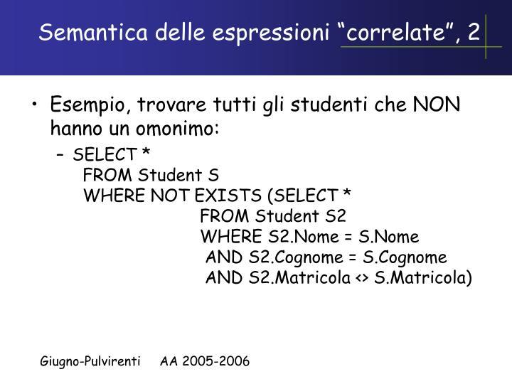 """Semantica delle espressioni """"correlate"""", 2"""