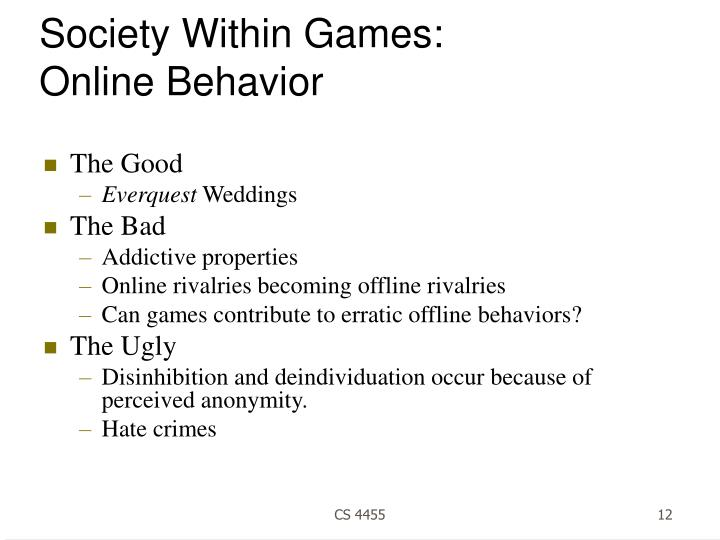 Society Within Games: