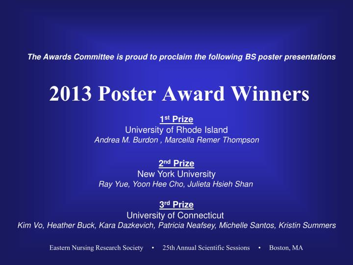 2013 poster award winners
