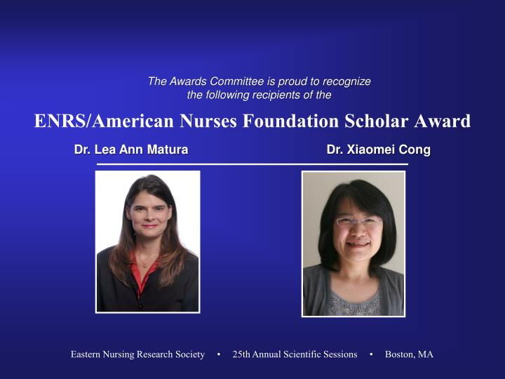 ENRS/American Nurses Foundation Scholar Award