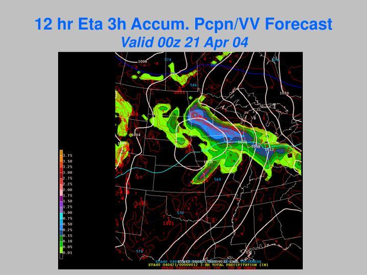 12 hr Eta 3h Accum. Pcpn/VV Forecast