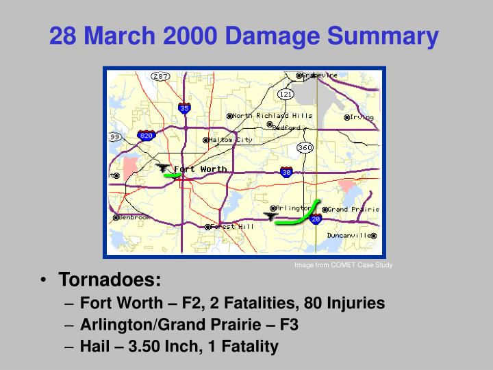 28 March 2000 Damage Summary