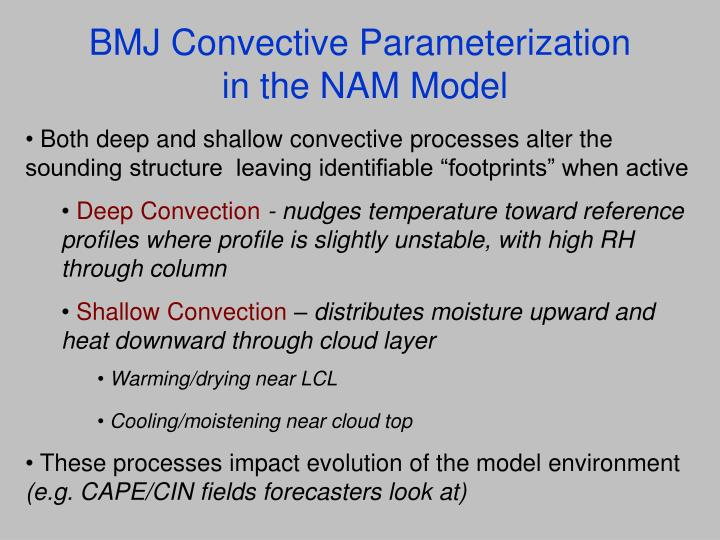 BMJ Convective Parameterization