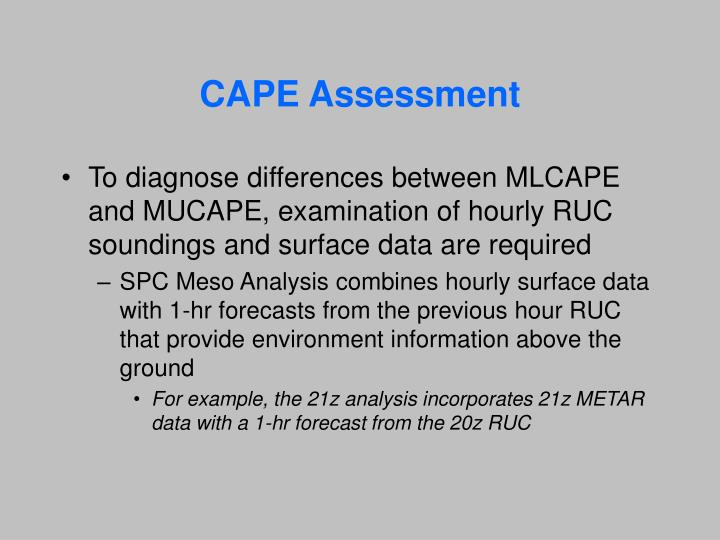 CAPE Assessment