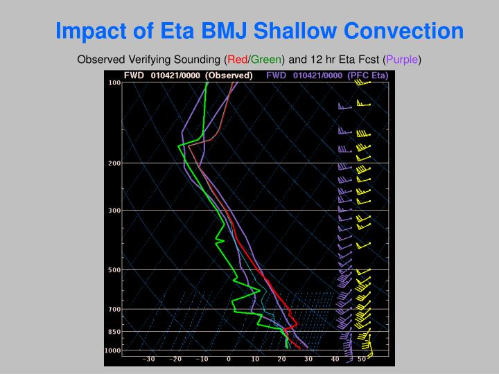 Impact of Eta BMJ Shallow Convection