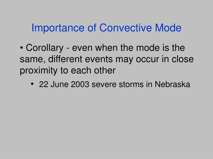 Importance of Convective Mode