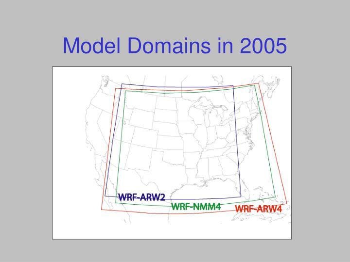 Model Domains in 2005
