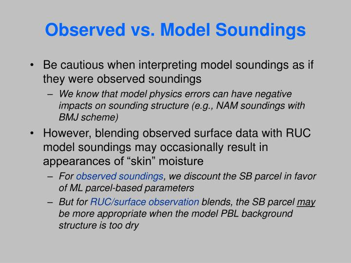 Observed vs. Model Soundings