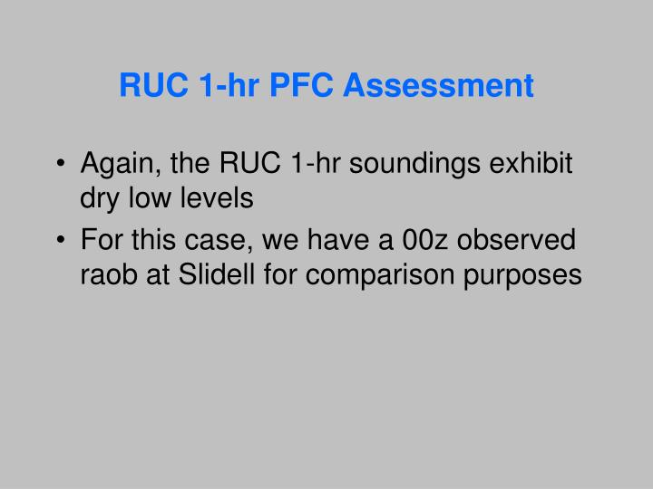 RUC 1-hr PFC Assessment