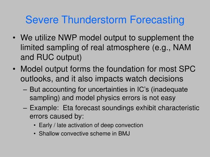 Severe Thunderstorm Forecasting