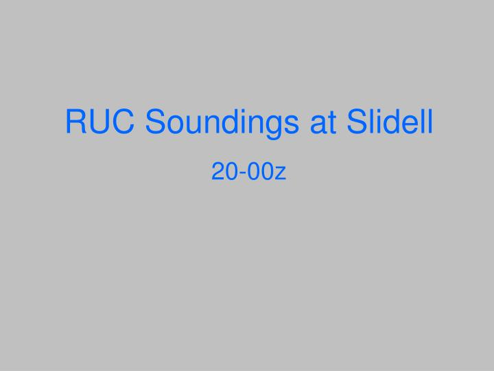 RUC Soundings at Slidell
