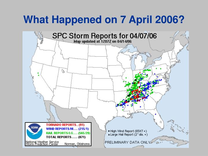 What Happened on 7 April 2006?