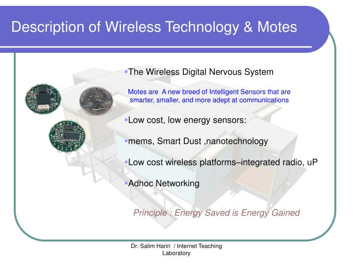 Description of Wireless Technology & Motes