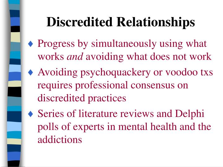 Discredited Relationships