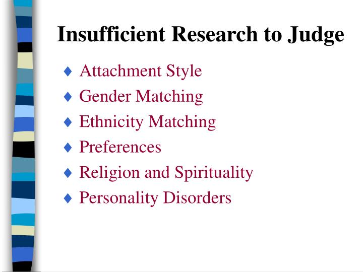 Insufficient Research to Judge