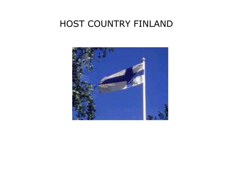 HOST COUNTRY FINLAND