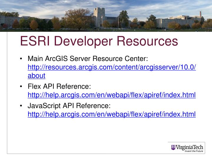 ESRI Developer Resources