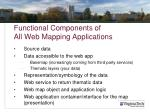 functional components of all web mapping applications