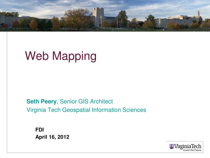 seth peery senior gis architect virginia tech geospatial information sciences