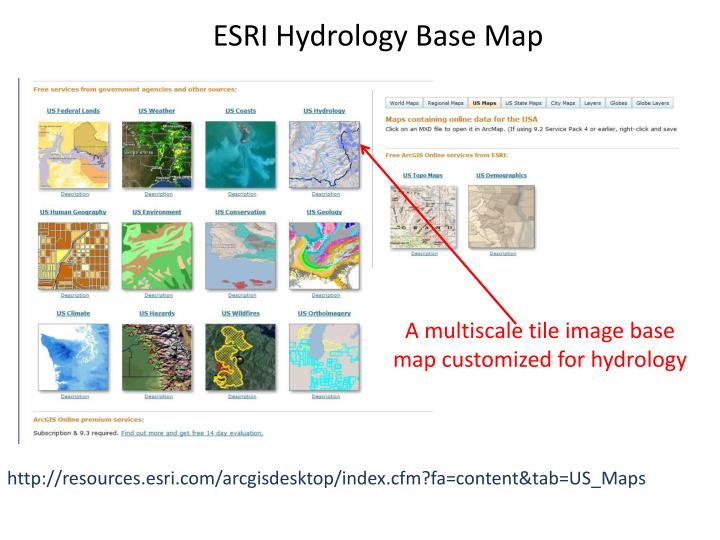 ESRI Hydrology Base Map