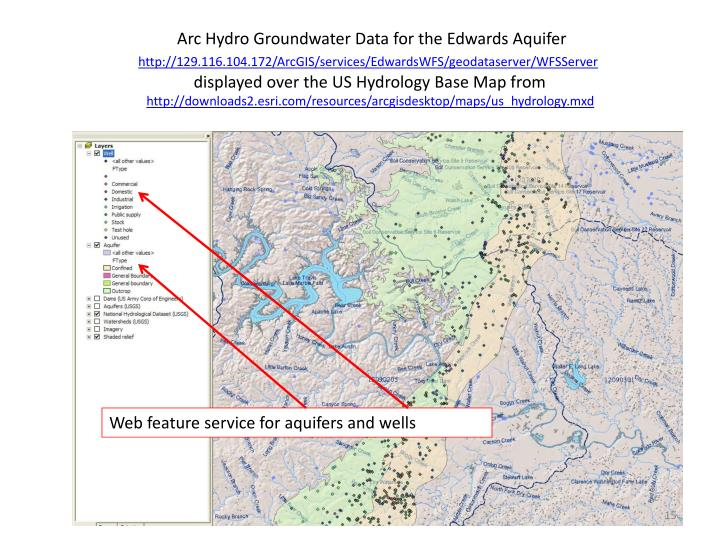 Arc Hydro Groundwater Data for the Edwards Aquifer
