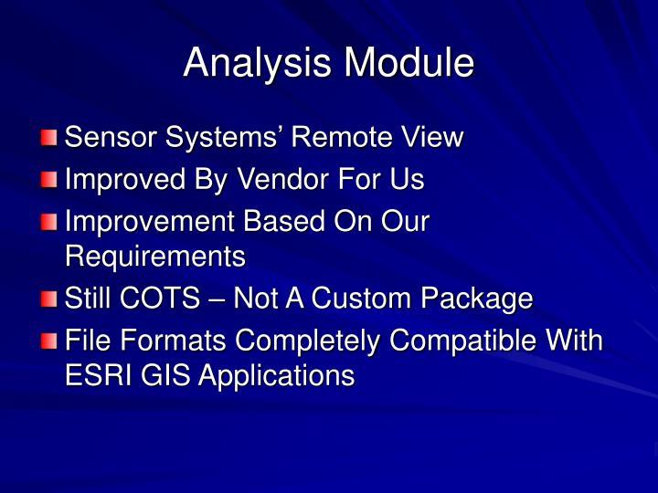 Analysis Module