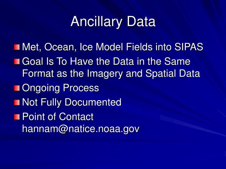 Ancillary Data